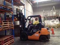 Forklift from our forklift training courses in WA